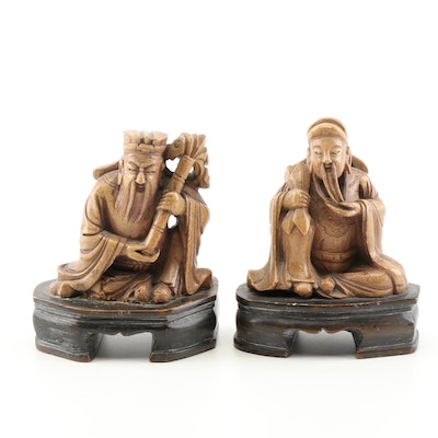 Chinese Carved Stone Figurines
