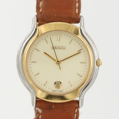 Gucci 800M Two Tone Quartz Wristwatch
