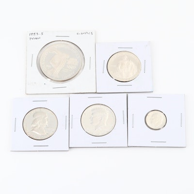 Five U.S. Proof Silver Coins