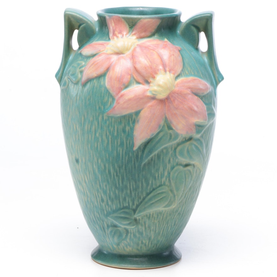"Roseville Pottery ""Clematis"" Vase, Circa 1940s"