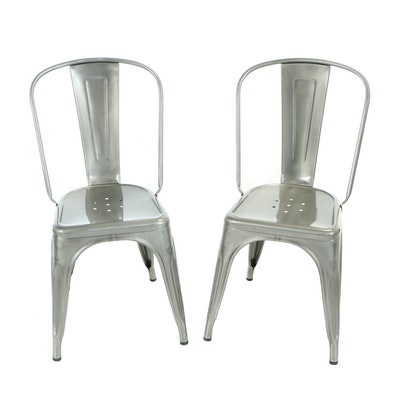 """Pair of Xavier Pauchard for Tolix Steel """"A"""" Chairs"""