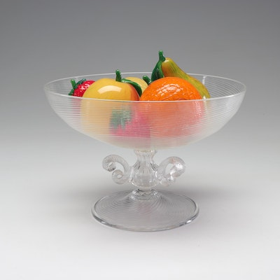 Murano Glass Bowl with Blown Glass Fruit