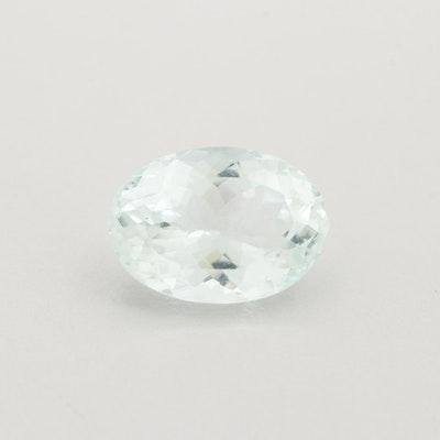 Loose 5.73 CT Aquamarine Gemstone