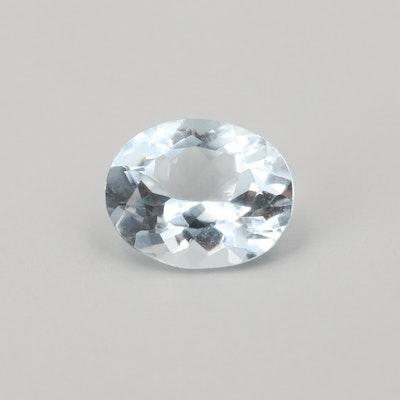 Loose 3.92 CT Aquamarine Gemstone