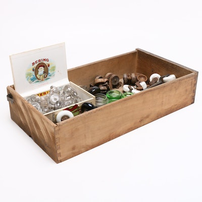 Glass Door Knobs, Ceramic Casters, and Brass Drawer Pulls with Others