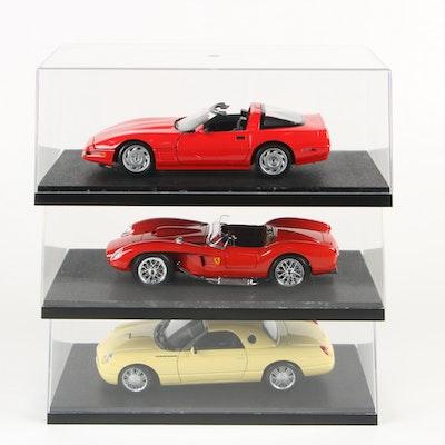 Diecast Cars including BBurago 1957 Ferrari 250 Testa Rossa