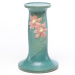 """Roseville Pottery """"Clematis"""" Jardiniere Stand, 1940s"""