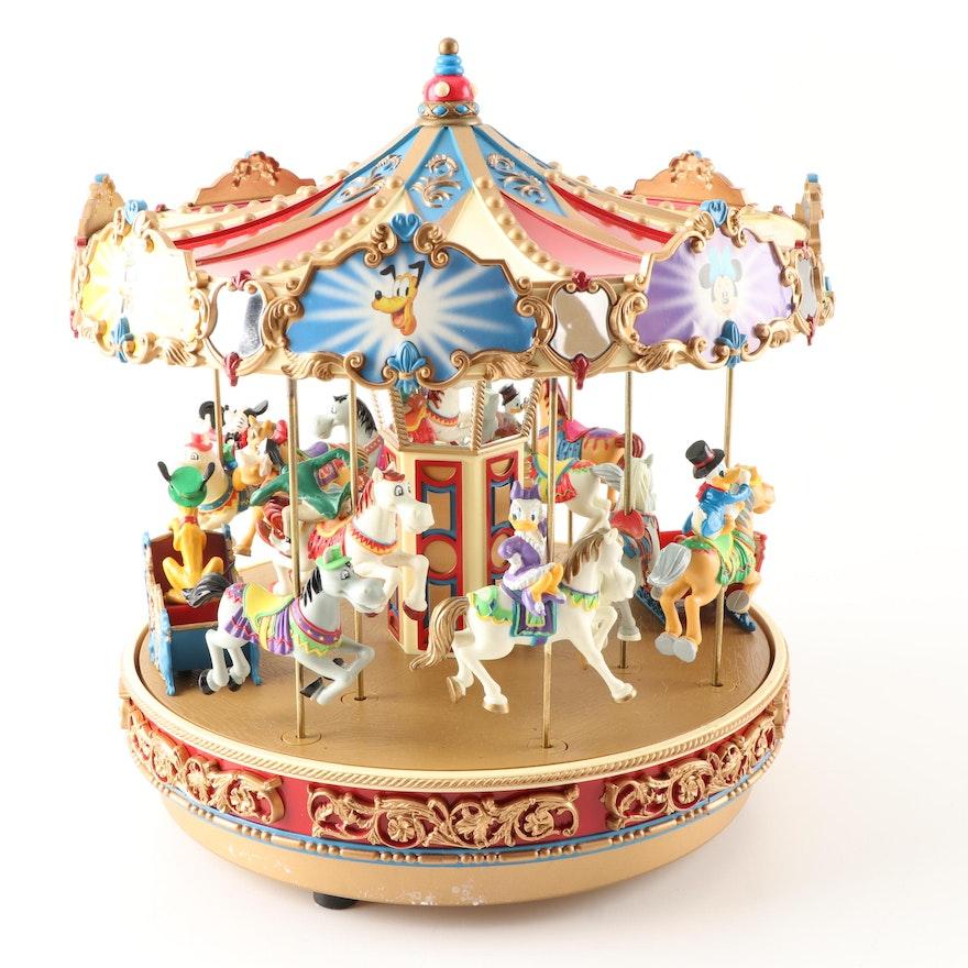 Mr Christmas Carousel.Mickey Holiday Carousel Music Box By Mr Christmas