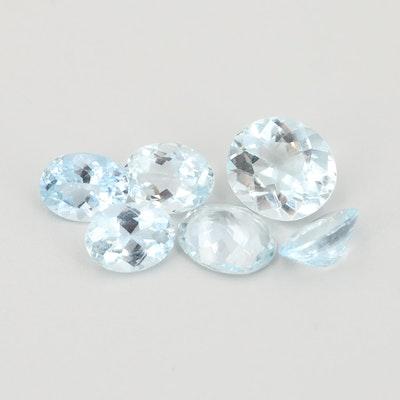 Loose 12.70 CTW Aquamarine Gemstones