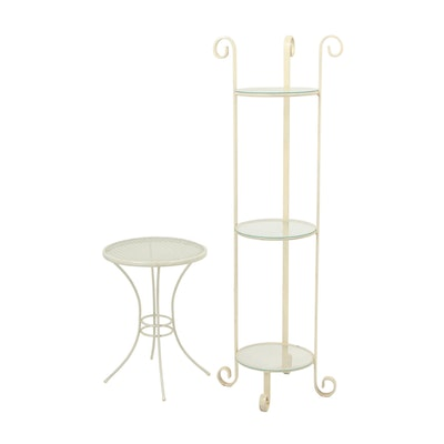 Painted Metal Plant Stands