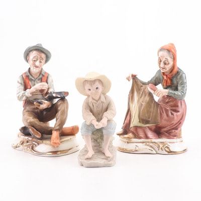 Hummel Style and Lefton China and Ceramic Figurines