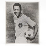 Pele Signed New York Cosmos Photo Print, Visual COA