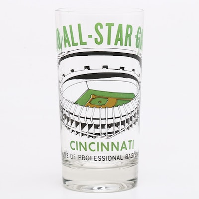 1970 Major League All-Star Baseball Game Drinking Glass, Riverfront Stadium