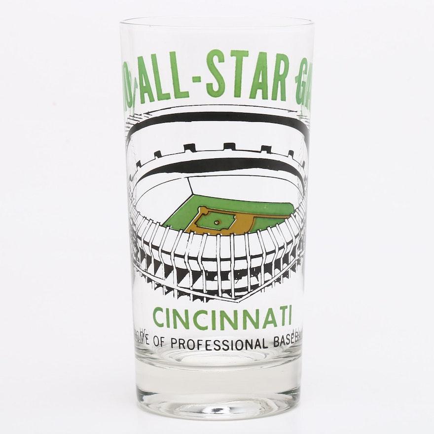 1970 Major League All-Star Baseball Game Drinking Glass, Riverfront Stadium