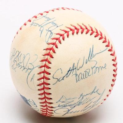 2000 Cincinnati Reds Team Signed MLB Baseball, COA