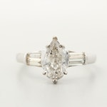 18K White Gold 1.47 CTW Diamond Ring