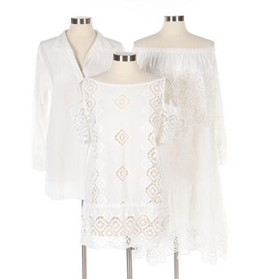 Luisa Spagnoli and Anne Fontaine White Shirts and Dress