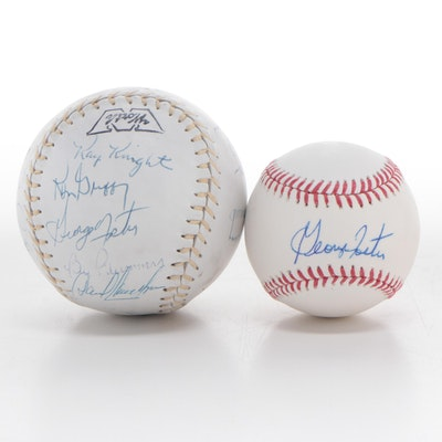 1977 Cincinnati Reds and George Foster Signed Sports Balls, COAs