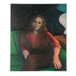 Peter Rappoli Oil Portrait of Woman