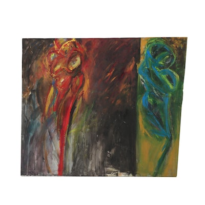Esther Liu Monumental Abstract Oil Painting