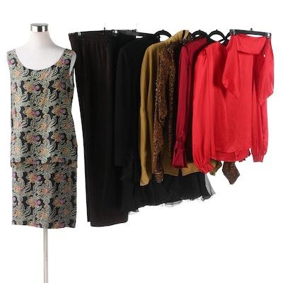Bill Blass, David Hayes, Lillie Rubin Vintage Silk with Other Silk Separates