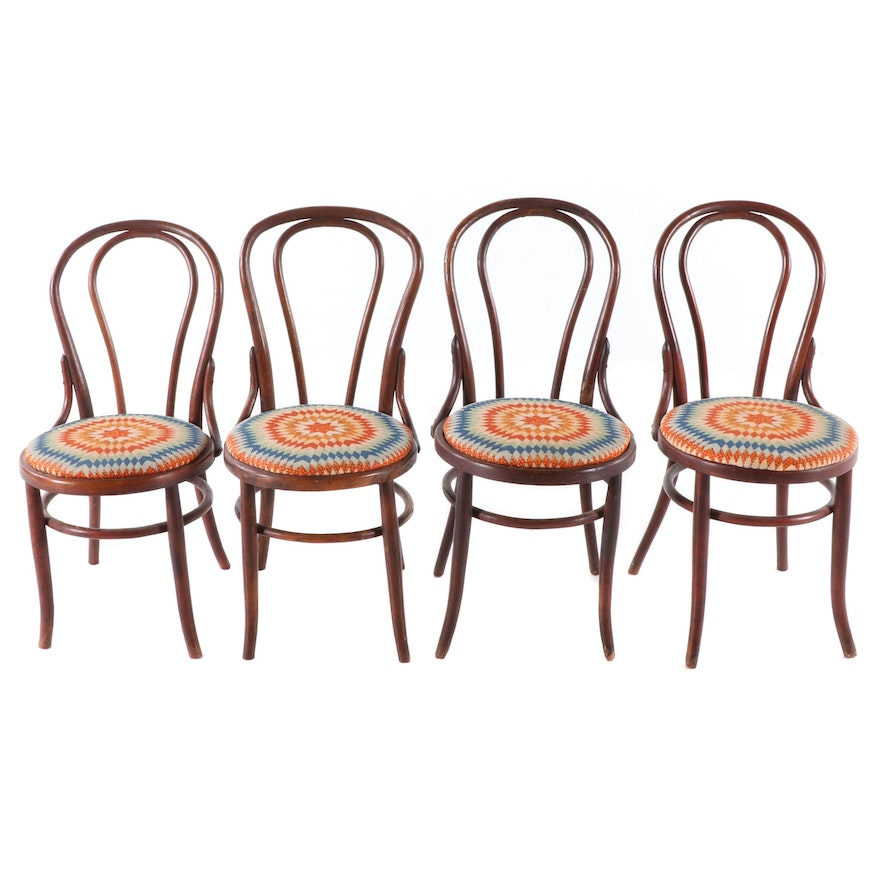 Four Bentwood Dining Chairs, Mid-20th Century