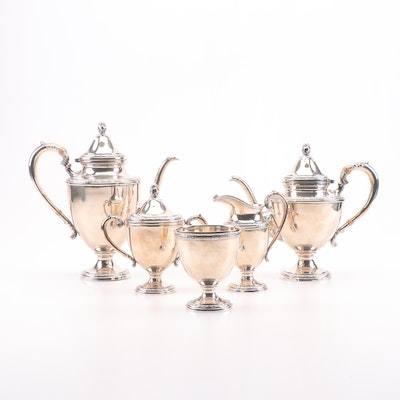 "Frank M. Whiting ""Talisman Rose"" Sterling Silver Hollowware Tea Set"