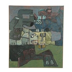 Richard Snyder Monumental Abstract Oil Painting