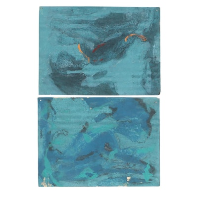 Oscar Murillo Abstract Mixed Media Compositions