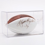 (HOF) Walter Payton Signed Wilson NFL Football with Case, COA