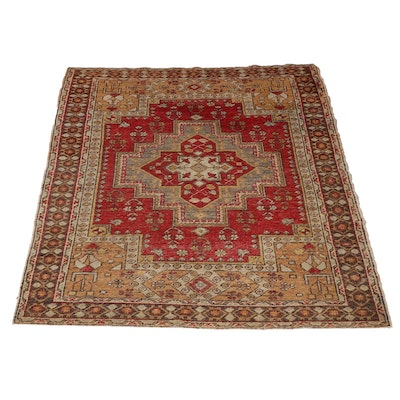 Handwoven Turkish Wool Oushak Rug