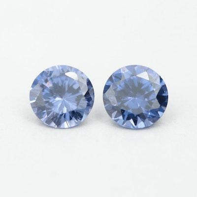 Loose Round Faceted Cubic Zirconia Gemstones