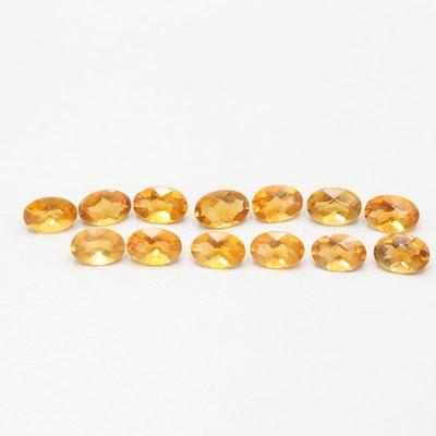 Loose 4.99 CTW Citrine Gemstones