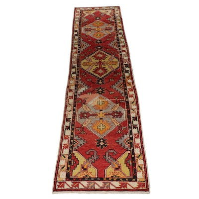 Hand-Knotted Turkish Sivas Wool Carpet Runner