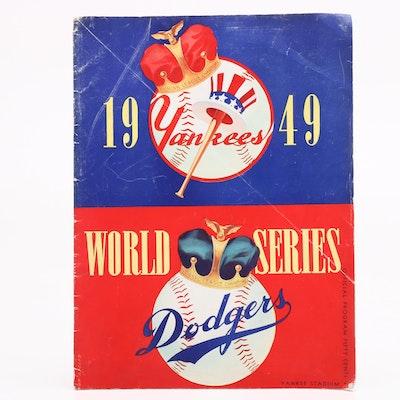 1949 World Series Program, Yankees vs. Dodgers