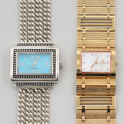 Ecclisi Sterling Silver and Croton Stainless Steel With Diamonds Quartz Watches