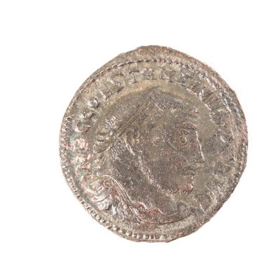 Ancient Roman Constantine I AE Follis, Circa 307-337 AD
