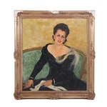 Mid 20th Century Oil Portrait