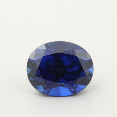 Loose Synthetic Sapphire Gemstone