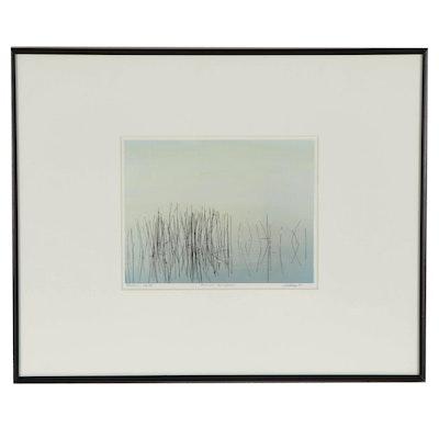 "Lew Wilson Colored Silver Gelatin ""Reeds - Florida Everglades"""