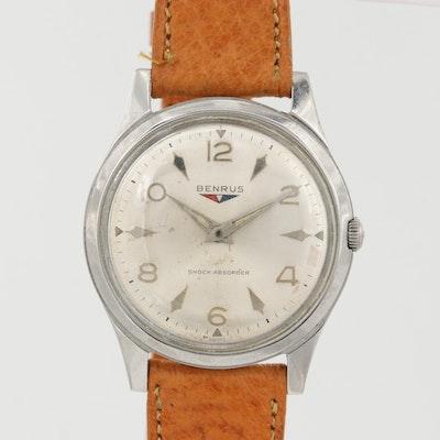 Vintage Benrus Stainless Steel Stem Wind Wristwatch