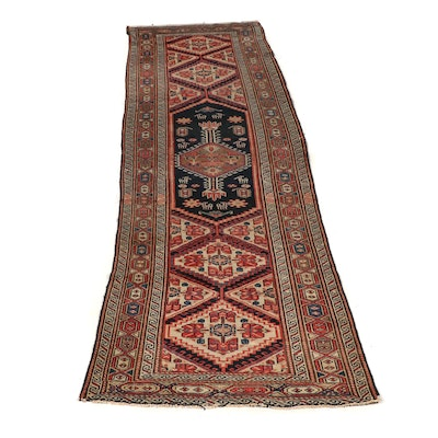 Hand-Knotted Persian Serab Wool Carpet Runner