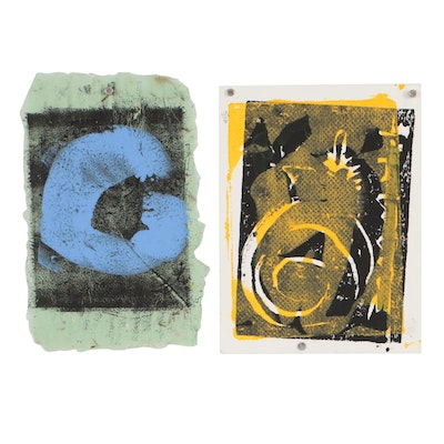Merle Rosen Abstract Collagraphs