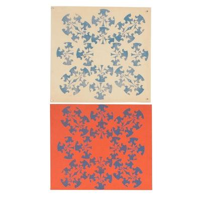 Merle Rosen Abstract Relief Prints