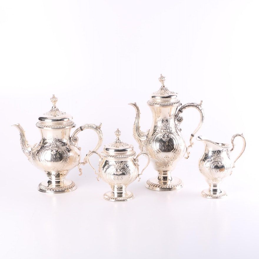 International Silver Silver Plated Tea and Coffee Serving Set