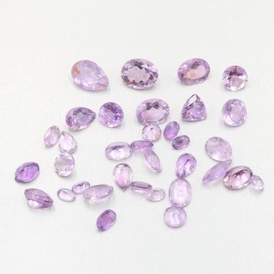 Loose 29.88 CTW Amethyst Gemstones