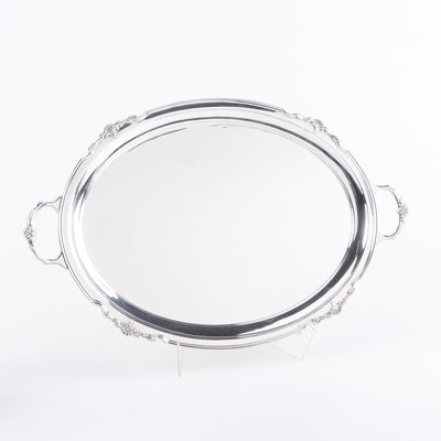 Cooper Brothers & Sons Ltd Sterling Silver Waiter Tray, 1964