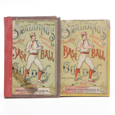 1905 and 1913 Spalding's Baseball Guides