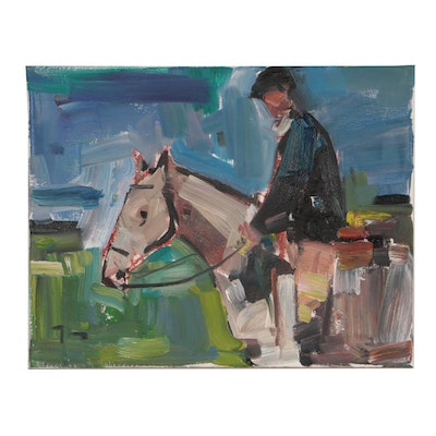 "Jose Trujillo Oil Painting ""The Rider"""