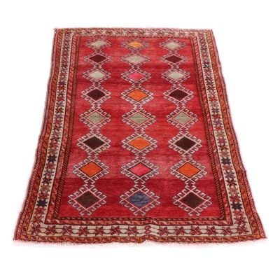 Hand-Knotted Persian Gabbeh Shiraz Wool Rug